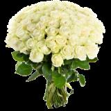51 белая роза Аваланж