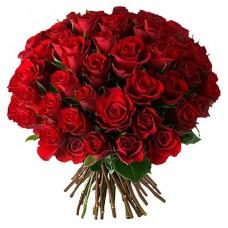 Доставка роз.  Купить букет из 51 красной розы до 3000 рублей