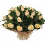 Букет из 51 бежевой розы Сезаль