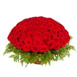 Романтическое вдохновение 101 роза