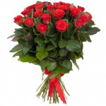 Букет из алых роз «ЭльТоро»