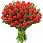 """Букет """"51 тюльпан"""" красный"""