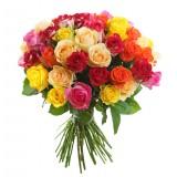 51 разноцветная роза 50 см