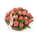 Корзина из 25 роз № 45