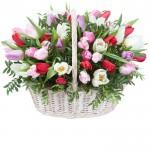 Корзина с тюльпанами (43)