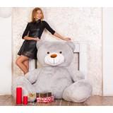 Плюшевый медведь Барт 170 см (Серый)