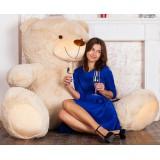 Плюшевый медведь Барт 220 см бежевый