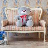 Плюшевый медведь Барт 110 см  серый