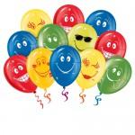 10 воздушных шаров Улыбки