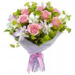 Букет из роз и орхидей. Чувства